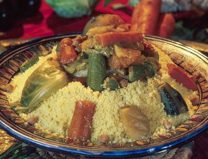 Moroccan Couscous With Meat and Seven Vegetables