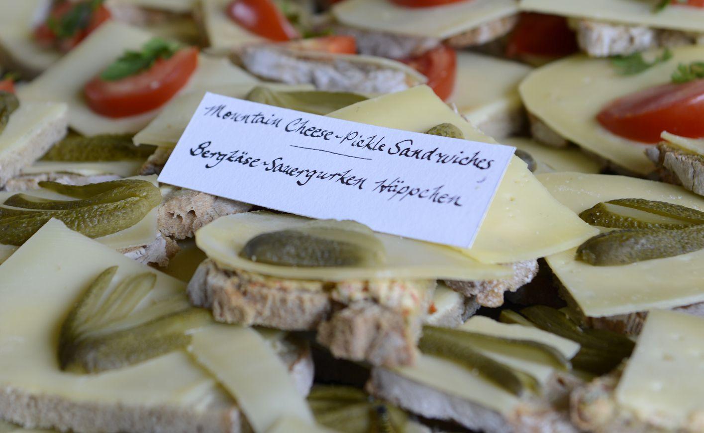 Cheese & Pickle Tea Sandwiches