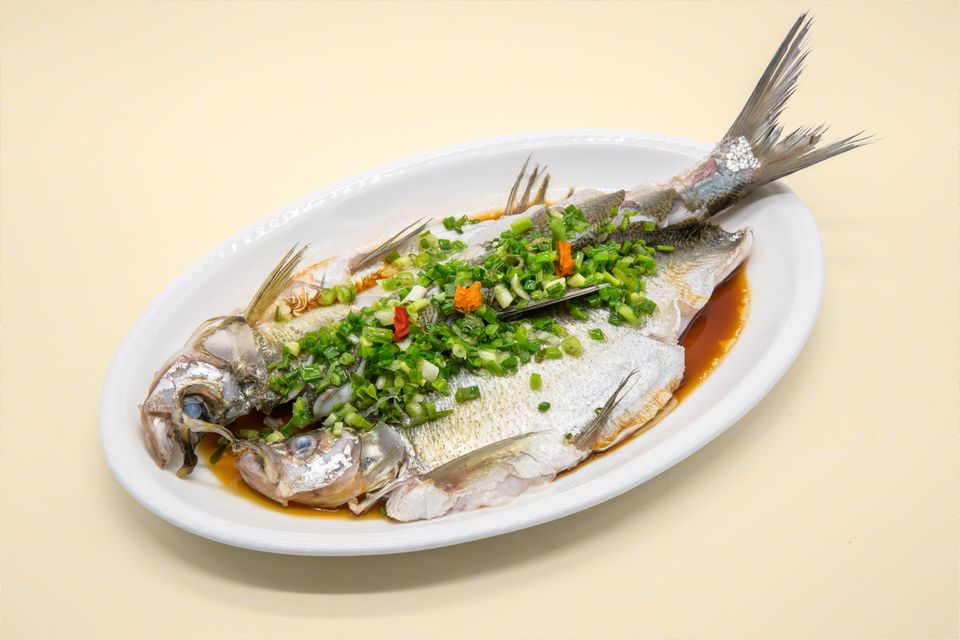 steamed whole fish with scallions