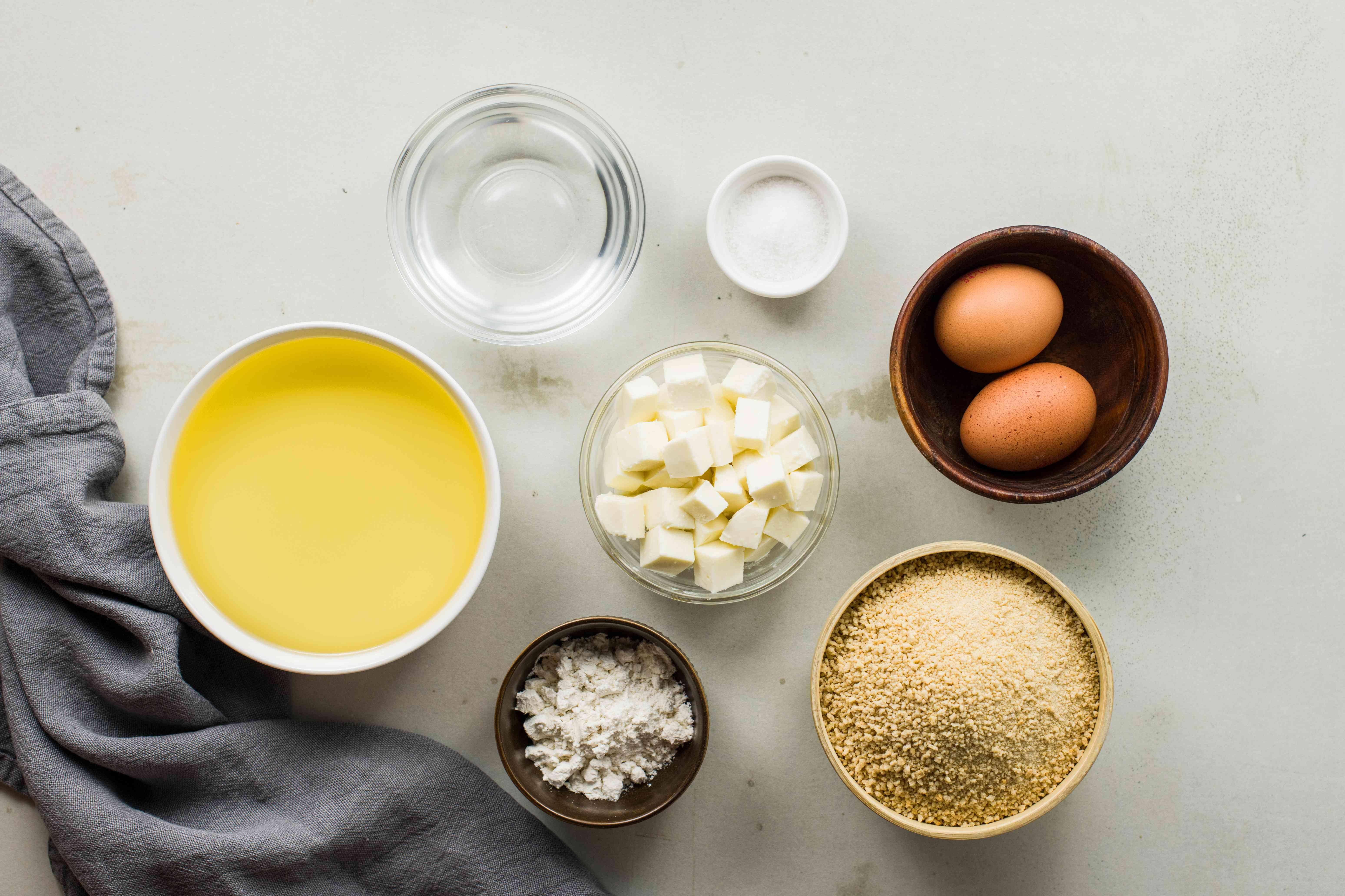 Ingredients for rice balls