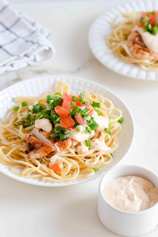 Grilled chicken with Cajun cream