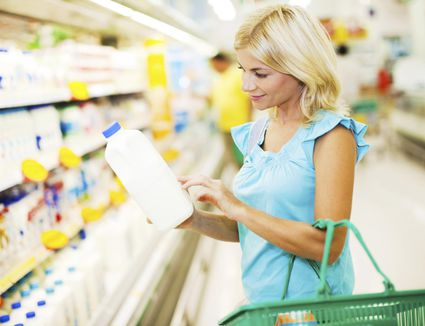 Female buying dairy products