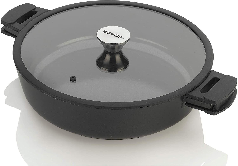 Zavor Noir Nonstick 6 qt. Cast Aluminum Covered Saute Pan