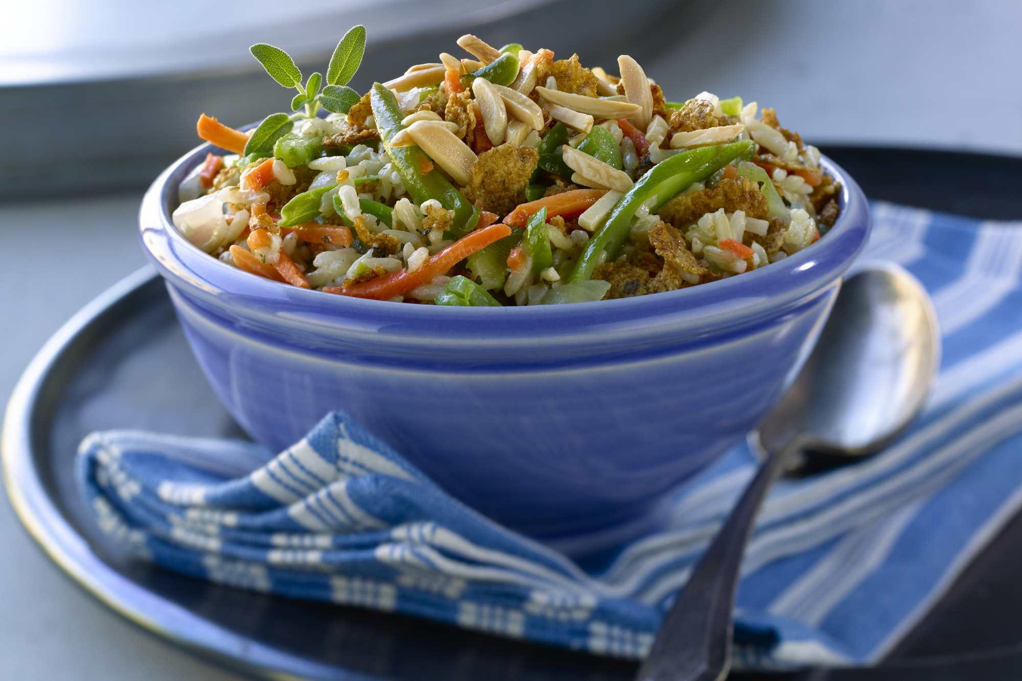 Colorful Rice Salad With Lemon Dressing