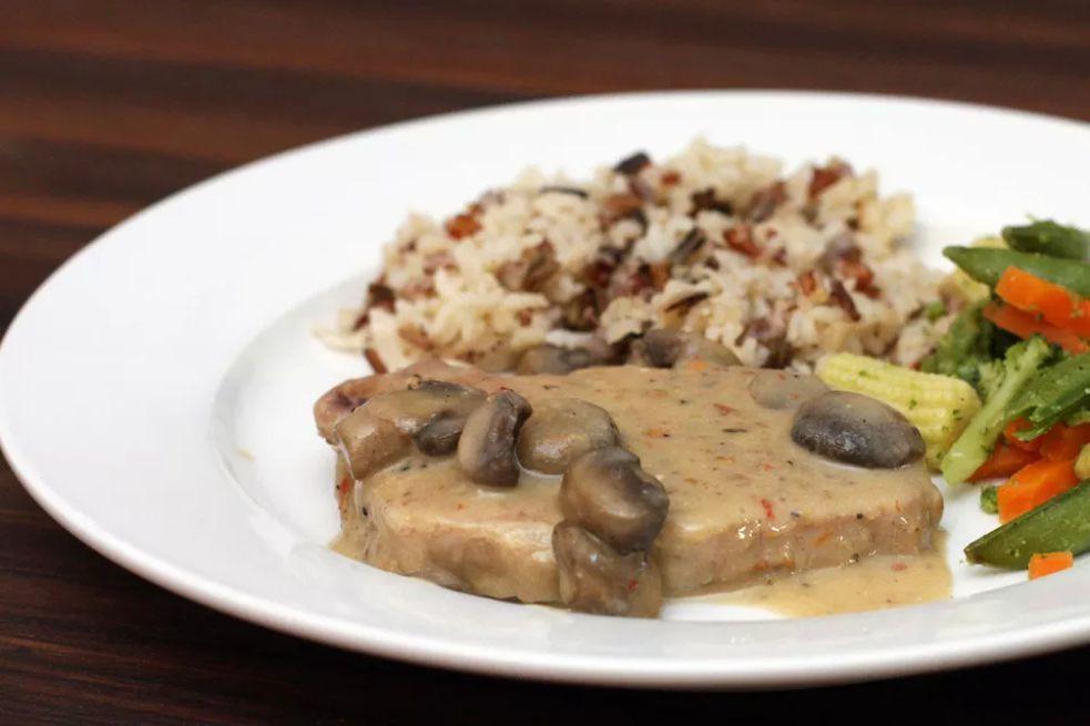 Easy Pork Chops With Mushrooms