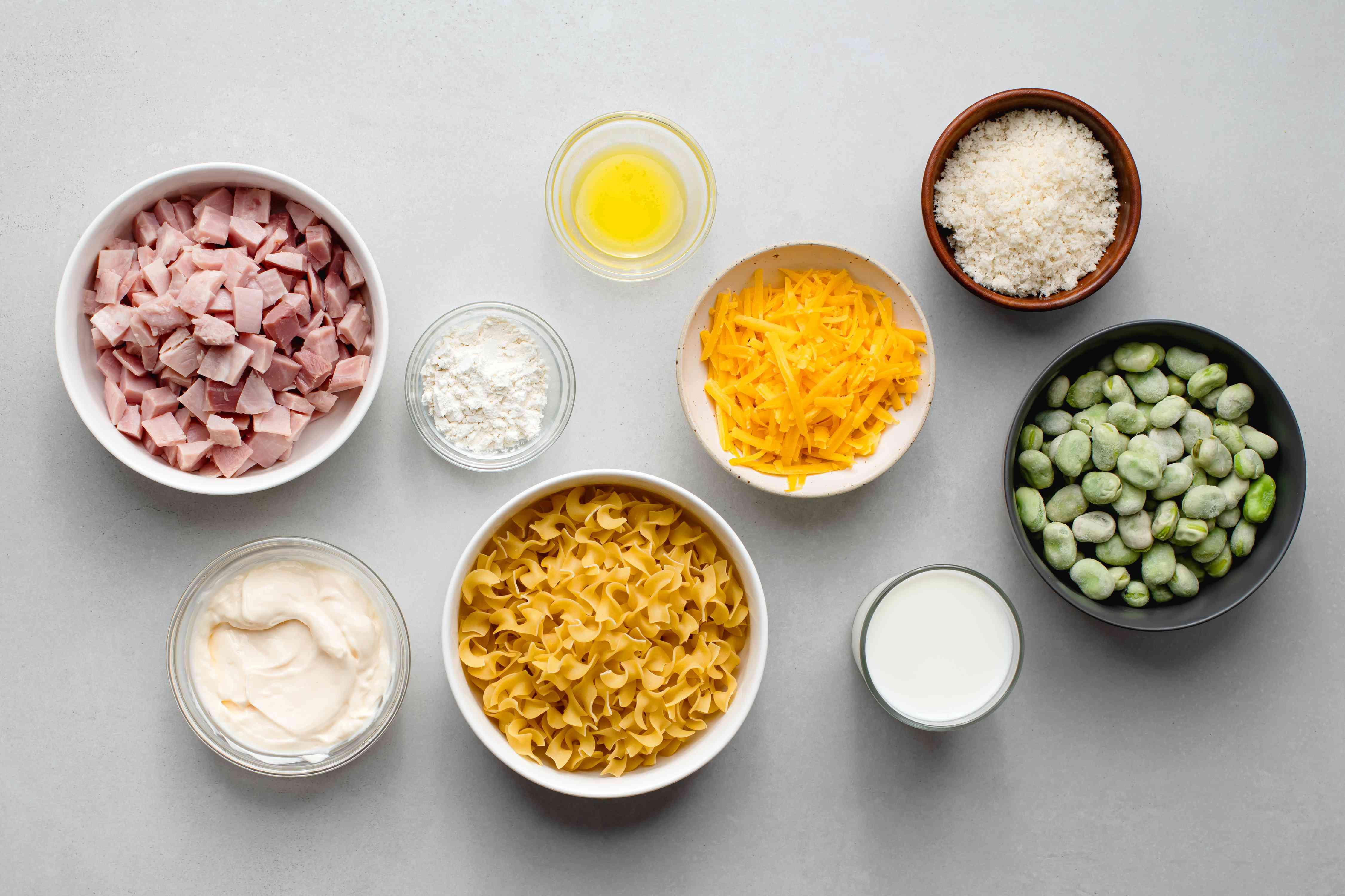 Quick Ham and Noodle Casserole ingredients