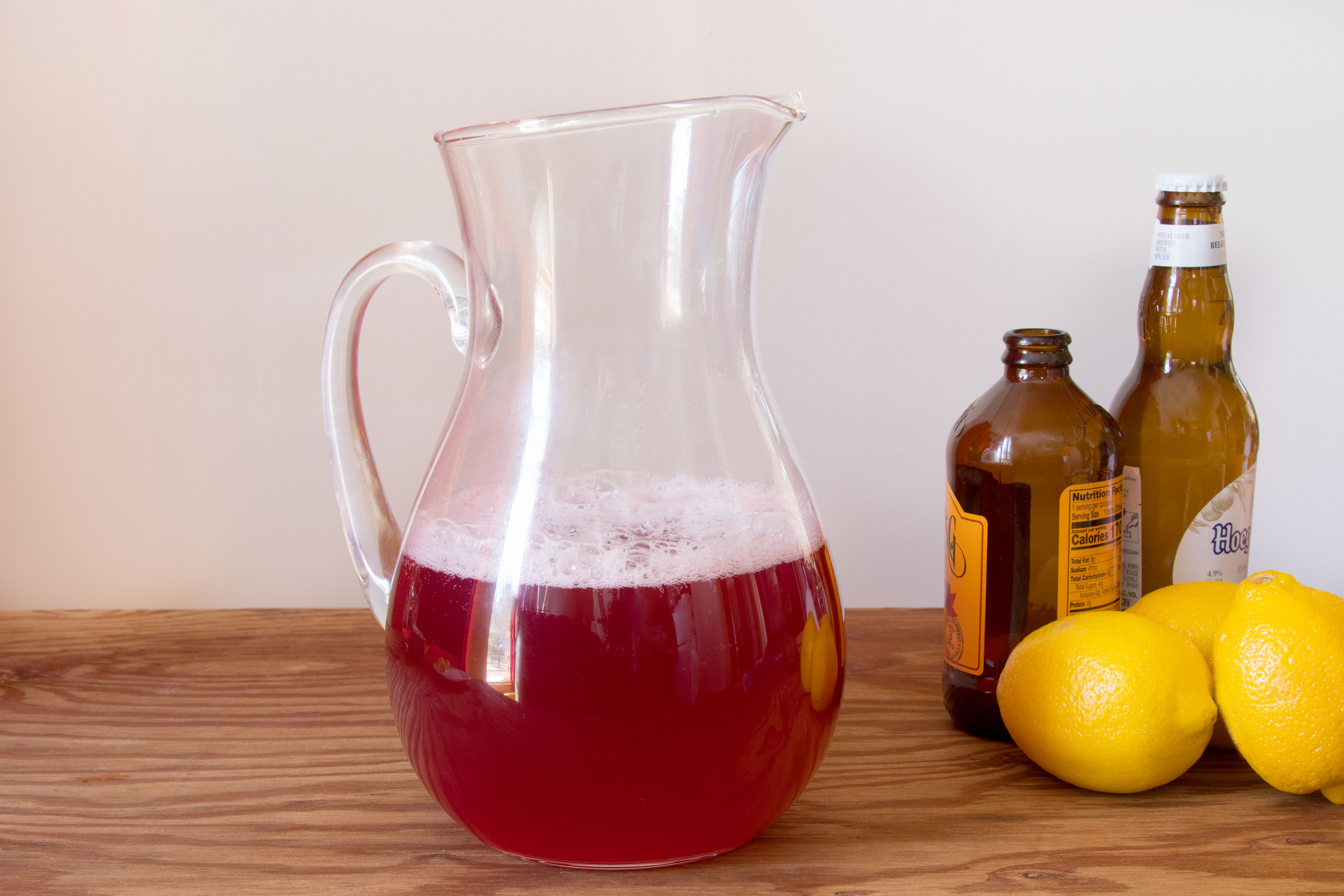 Making Cranberry Ginger Shandy by the Pitcher