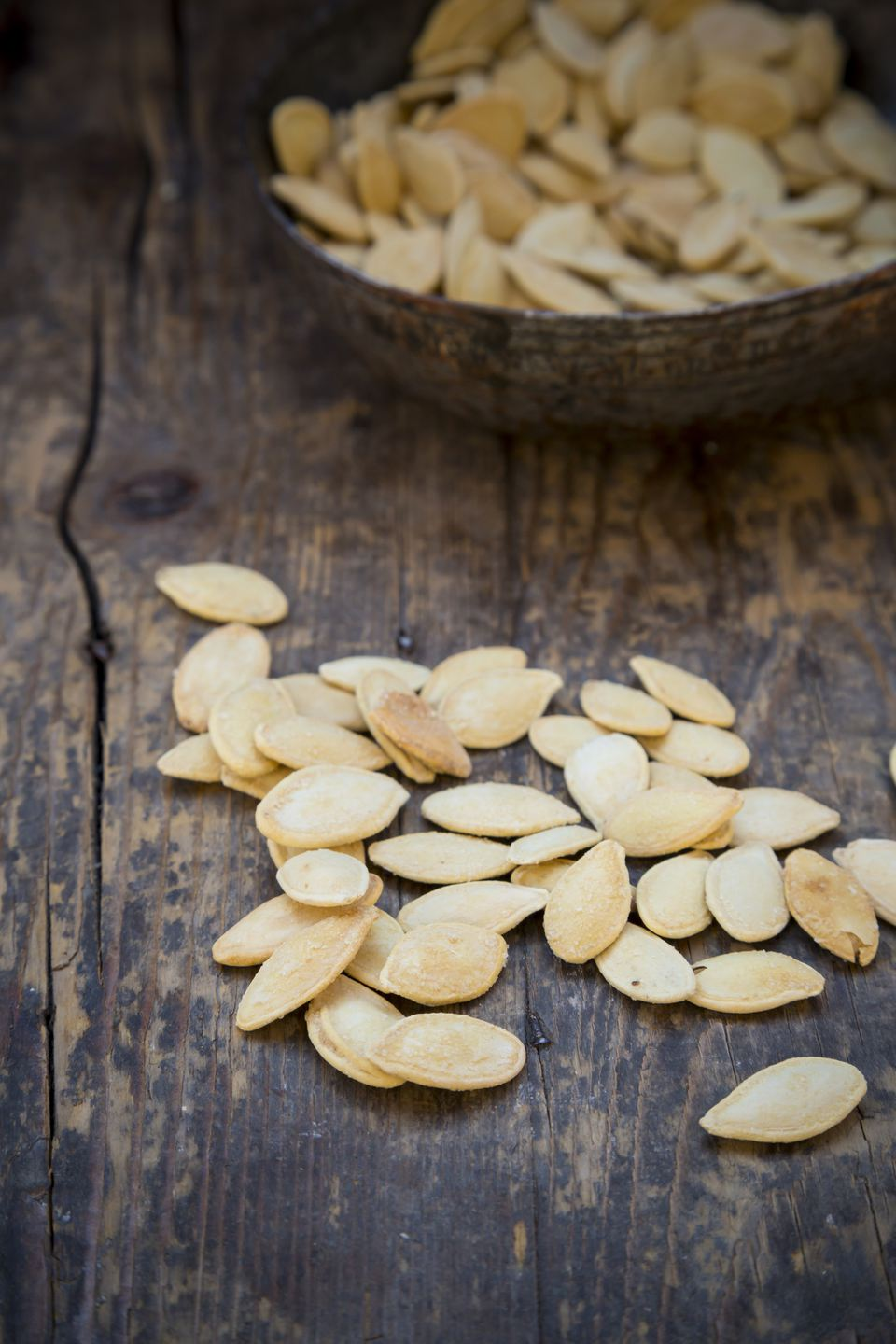 Roasted pumpkin seeds with salt