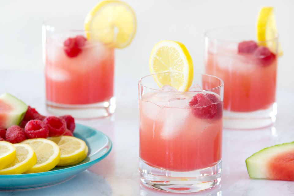 Watermelon Punch With Raspberry Lemonade
