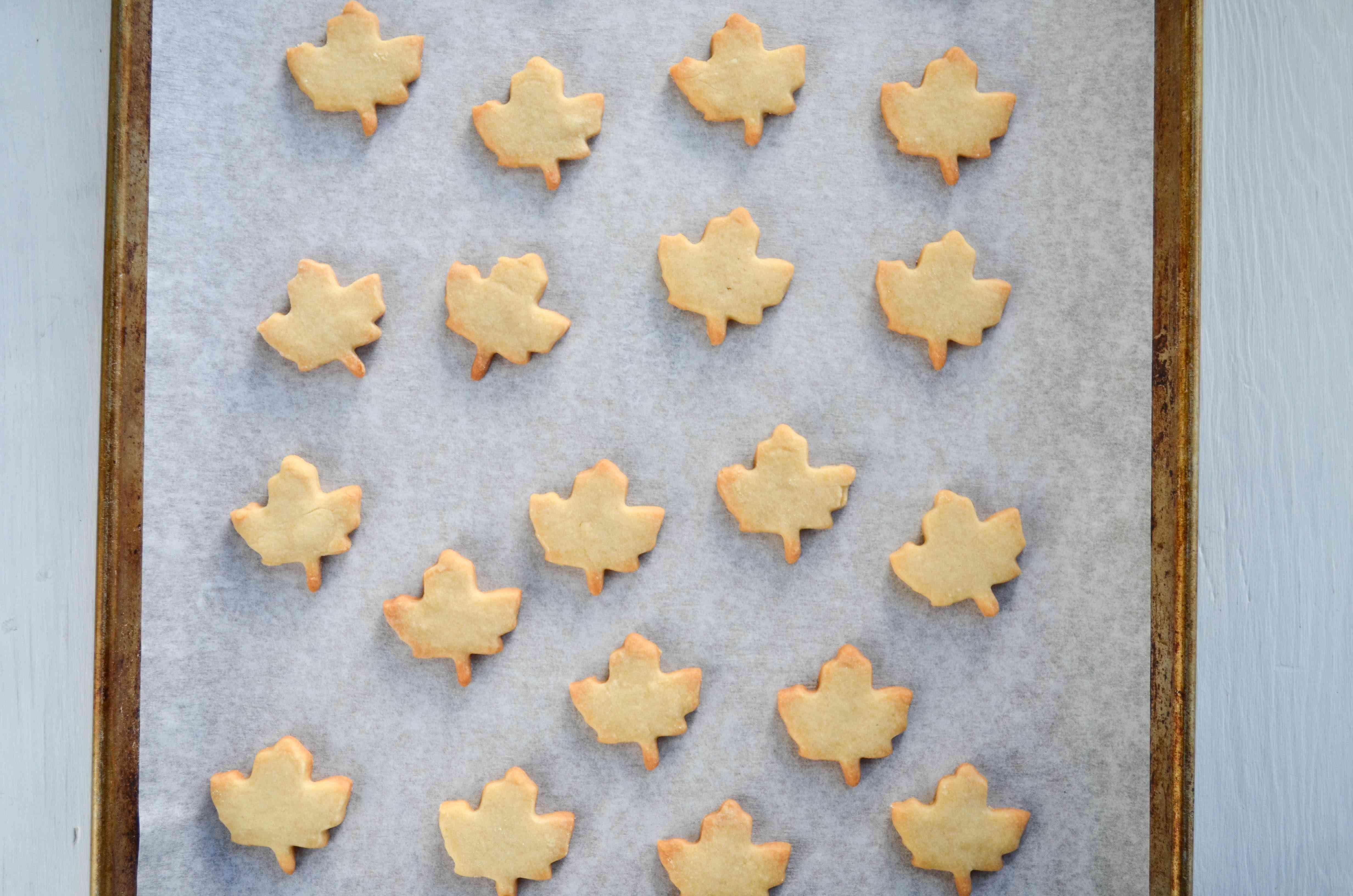 Bake the maple cookies