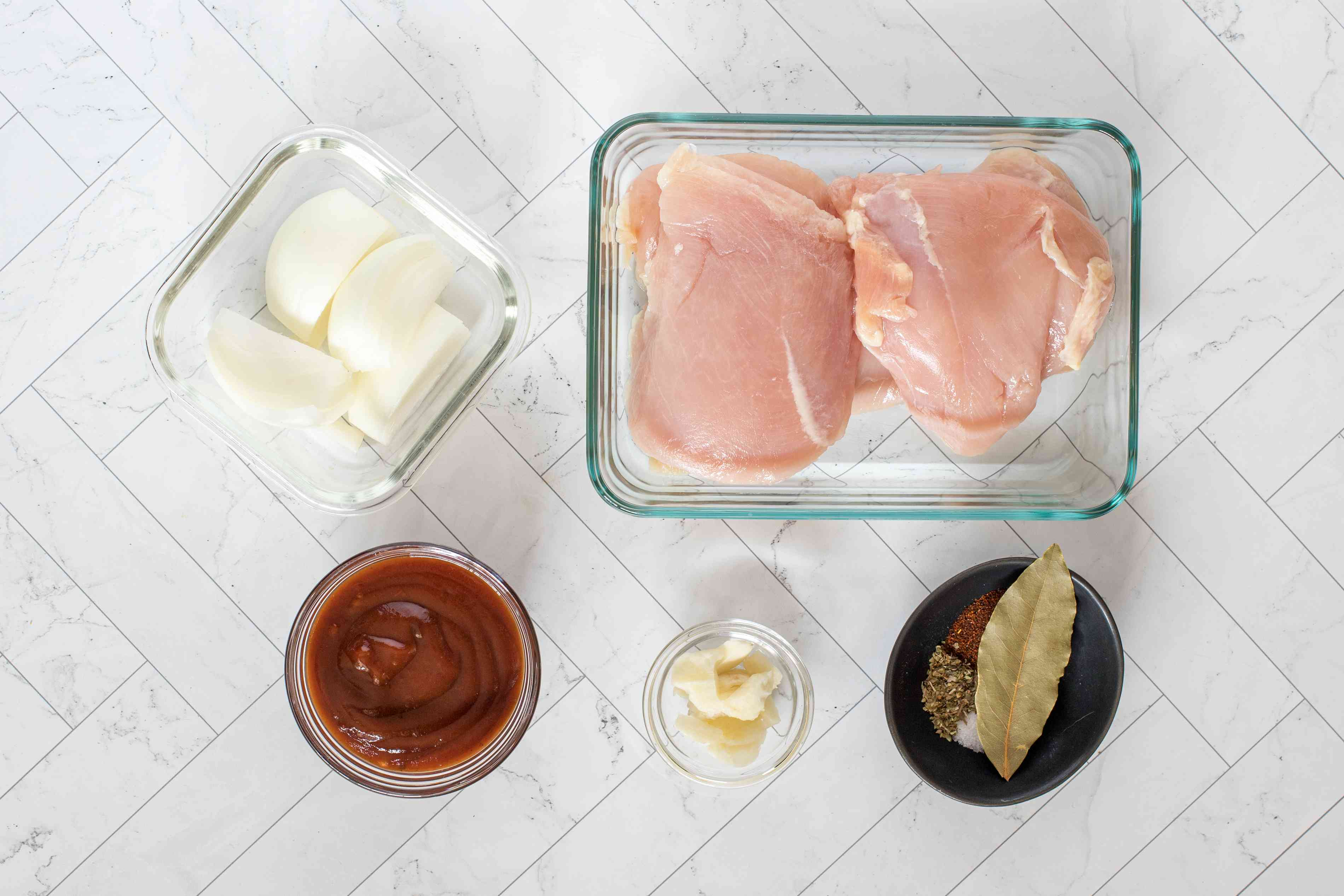 ingredients for poached chicken