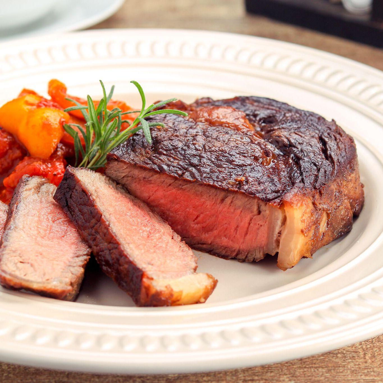 Butter-Basted, Pan Seared Rib-Eye Steak