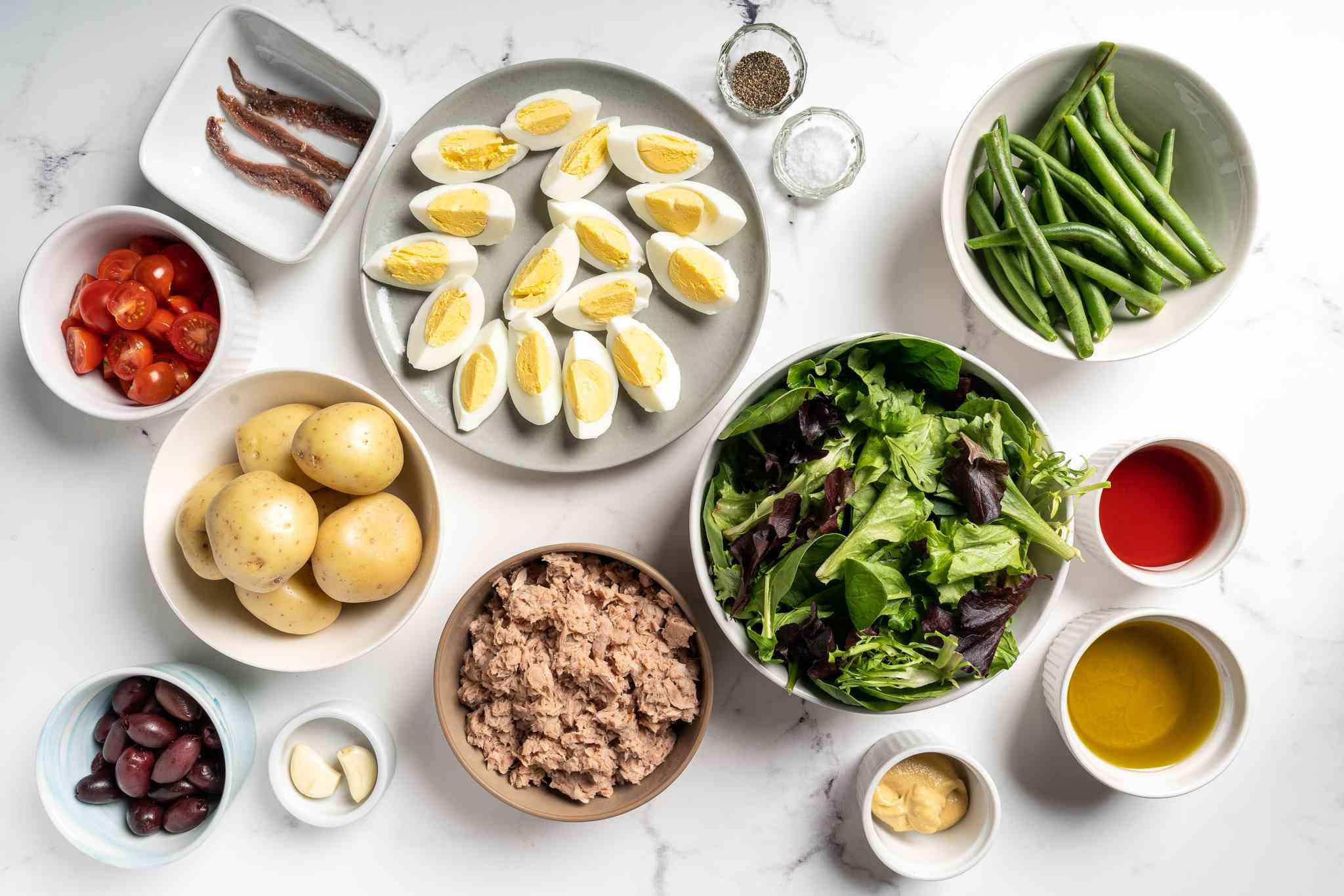 Niçoise Salad ingredients
