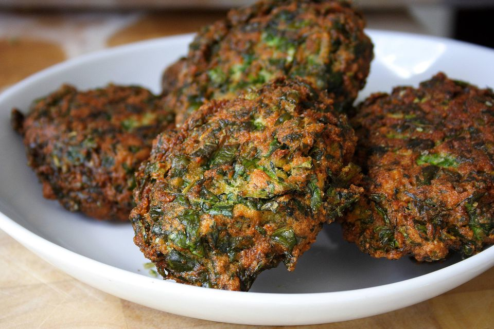 Split Pea Spinach Patties