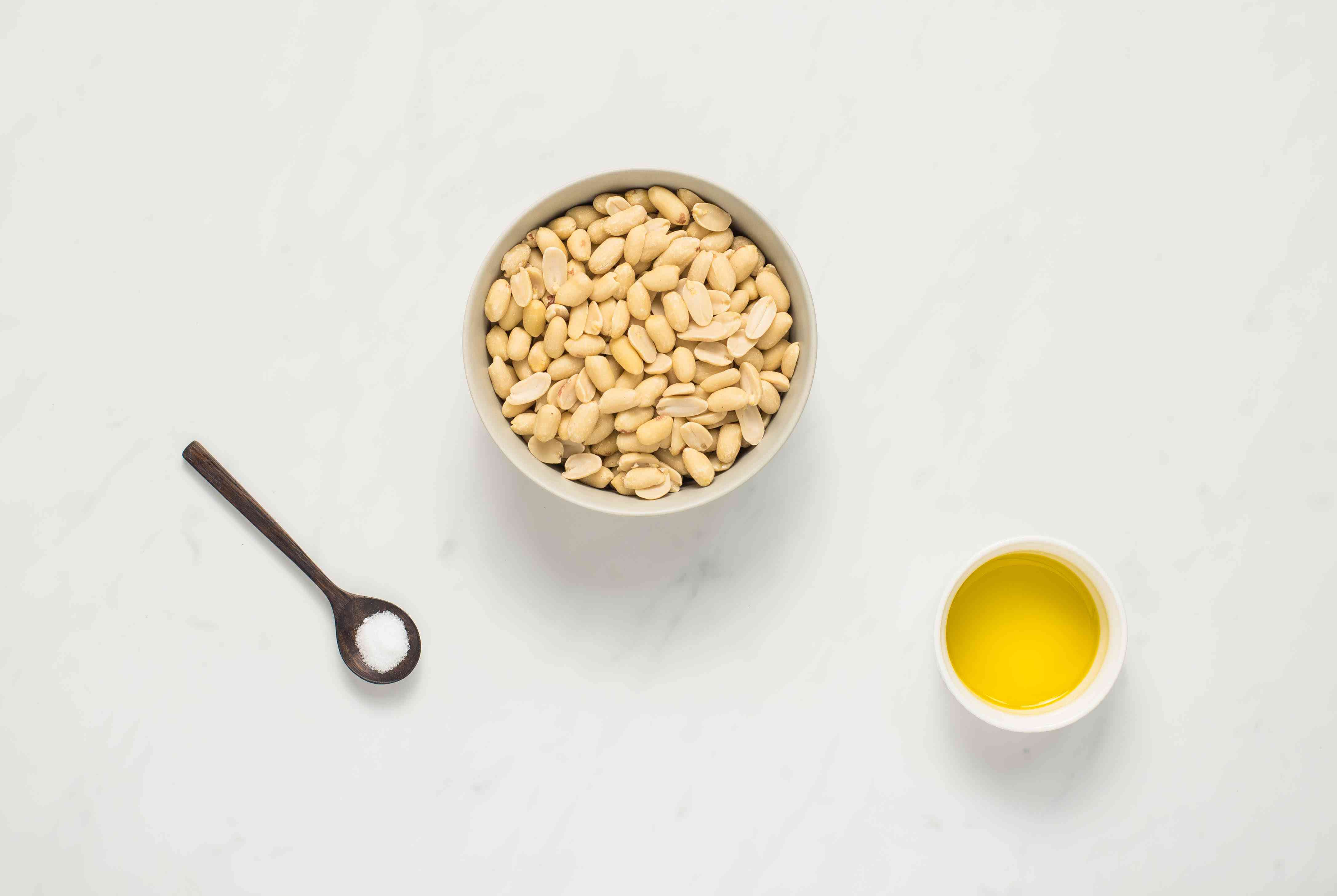 Ingredients for peanut butter
