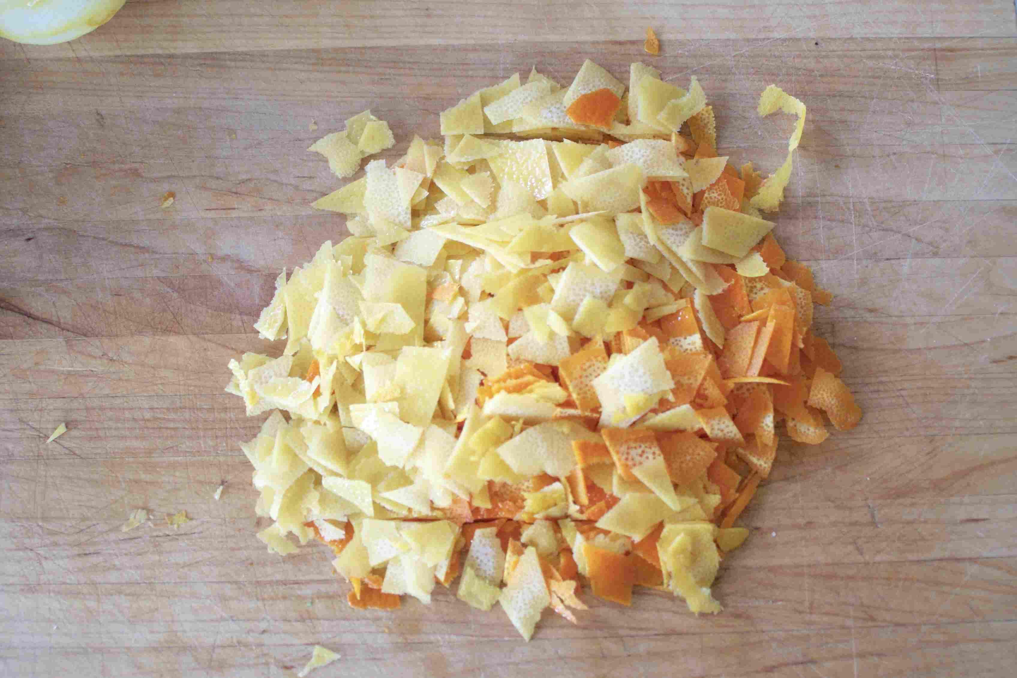 Chopped citrus zest