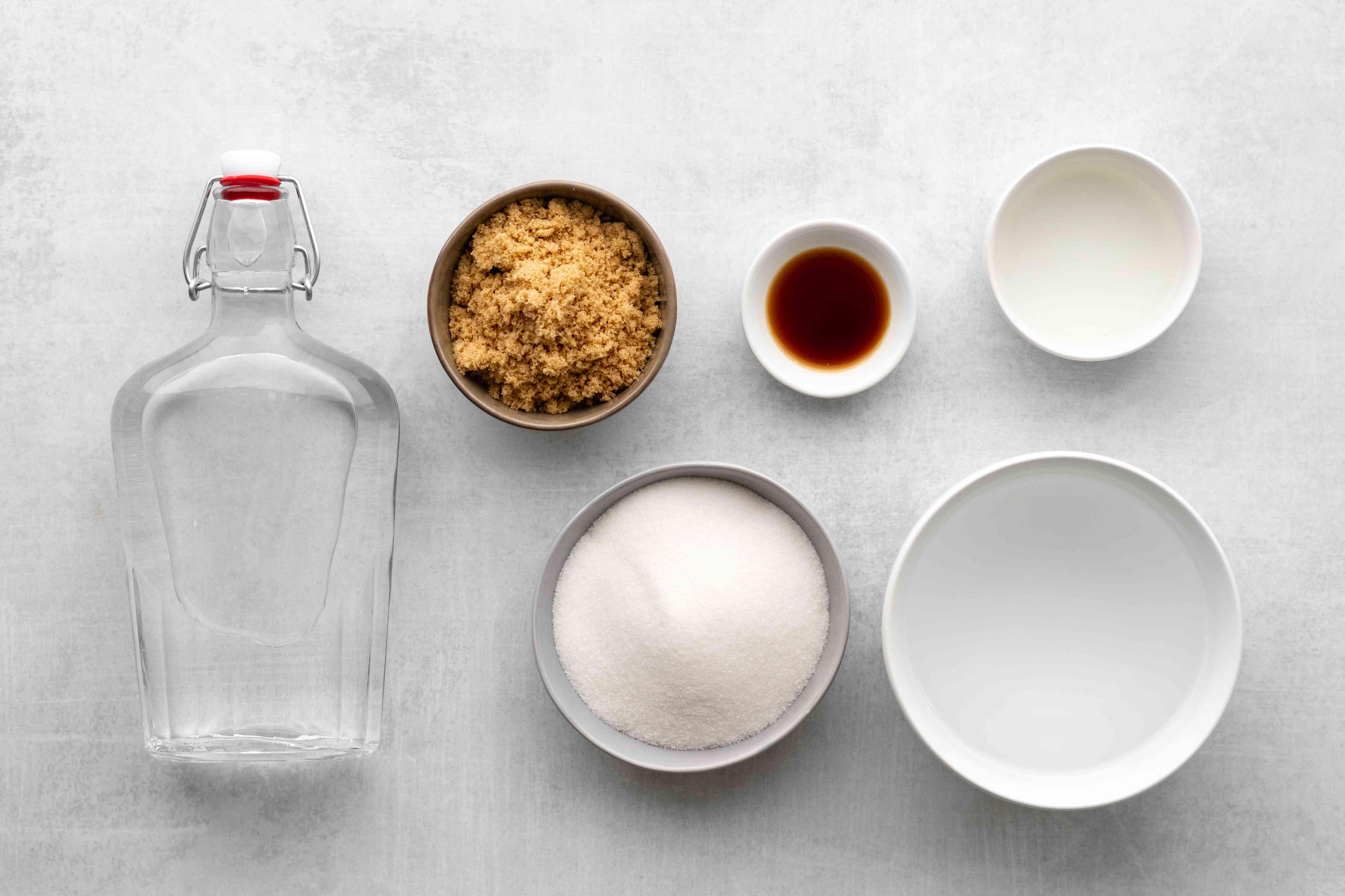 Homemade Amaretto Liqueur ingredients