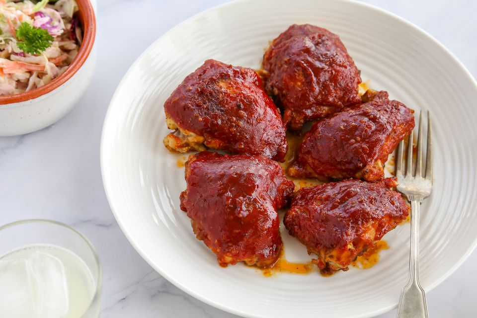 Oven-Barbecued Chicken Thighs