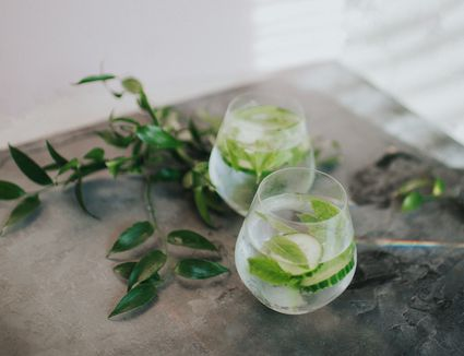 Rocky Cucumber Cocktail