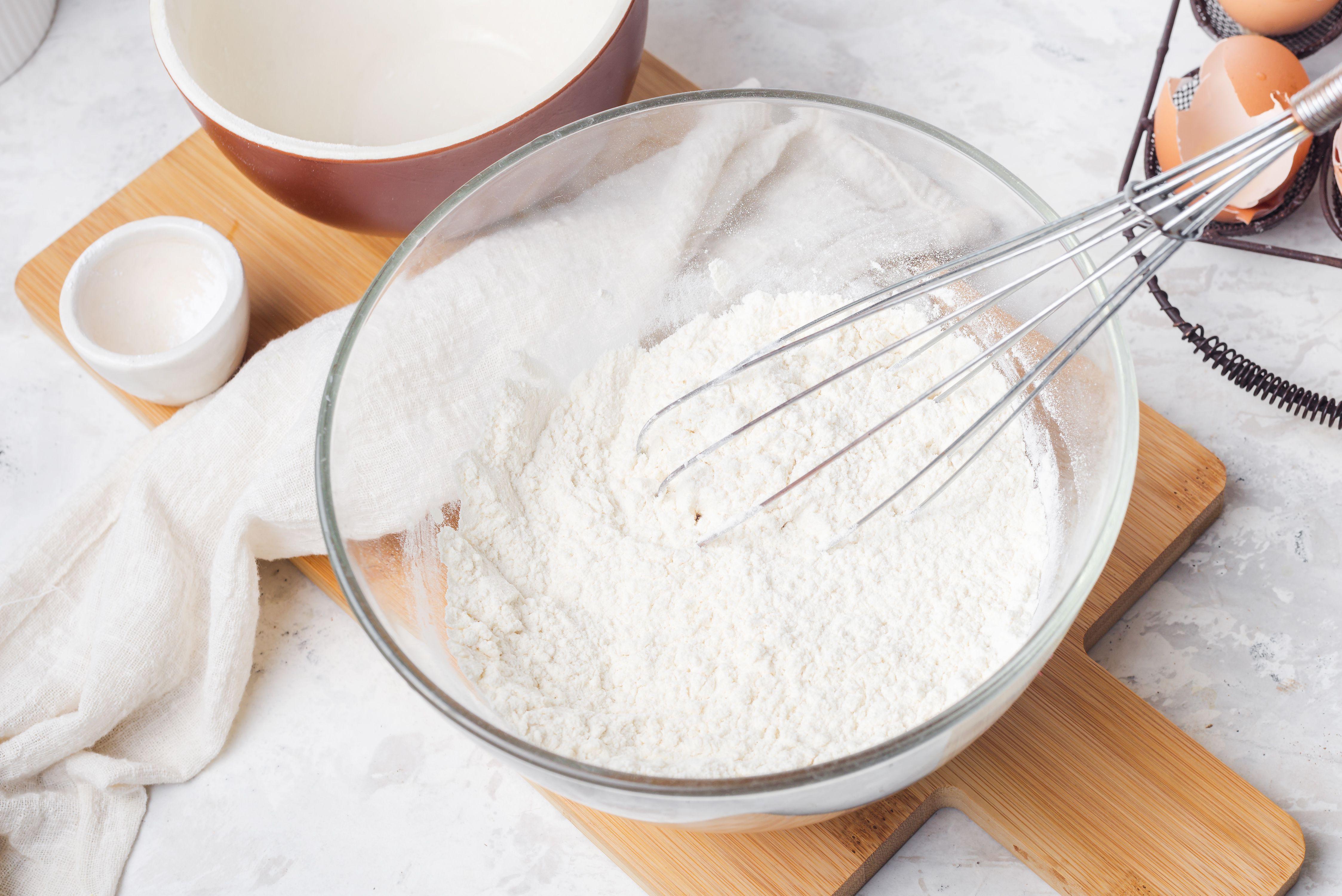 Stir flour