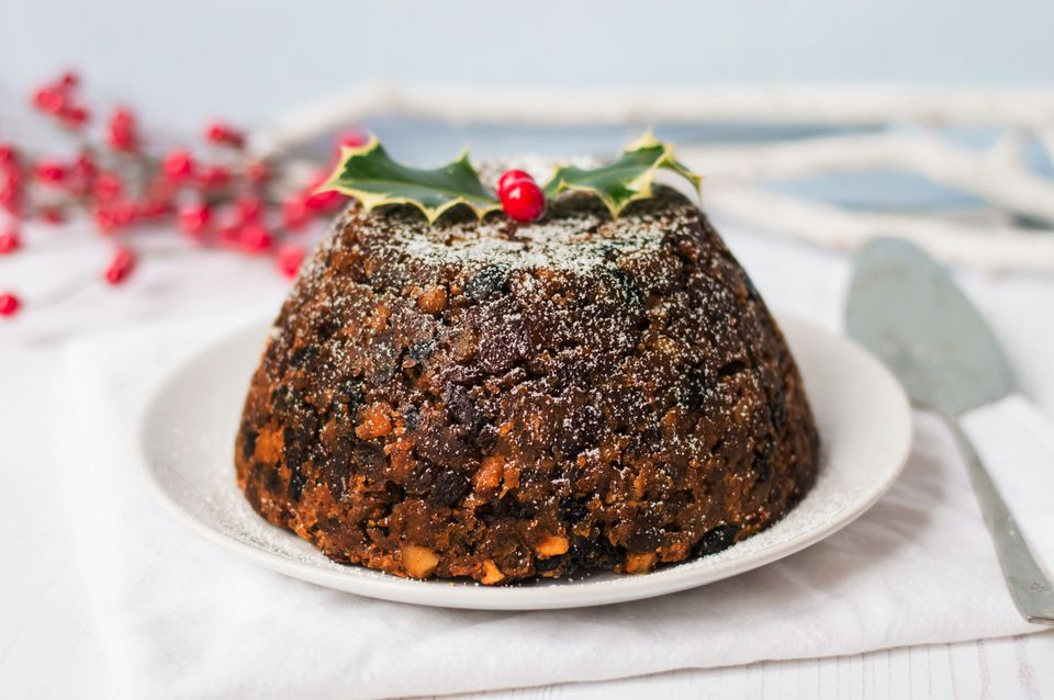 Christmas Pudding On Fire.Tried And Tested Recipe For The Best Christmas Pudding