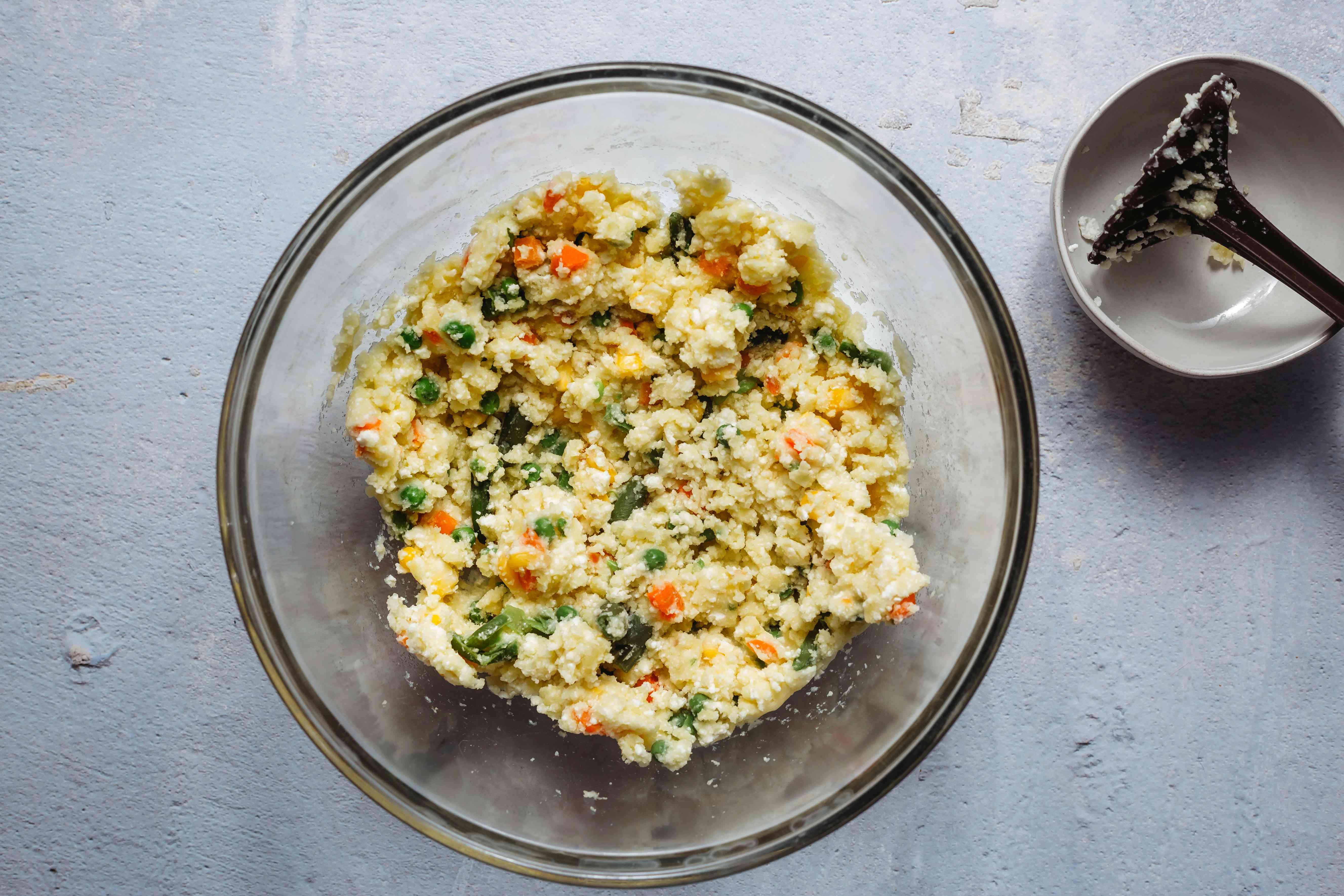 vegetables mashed together