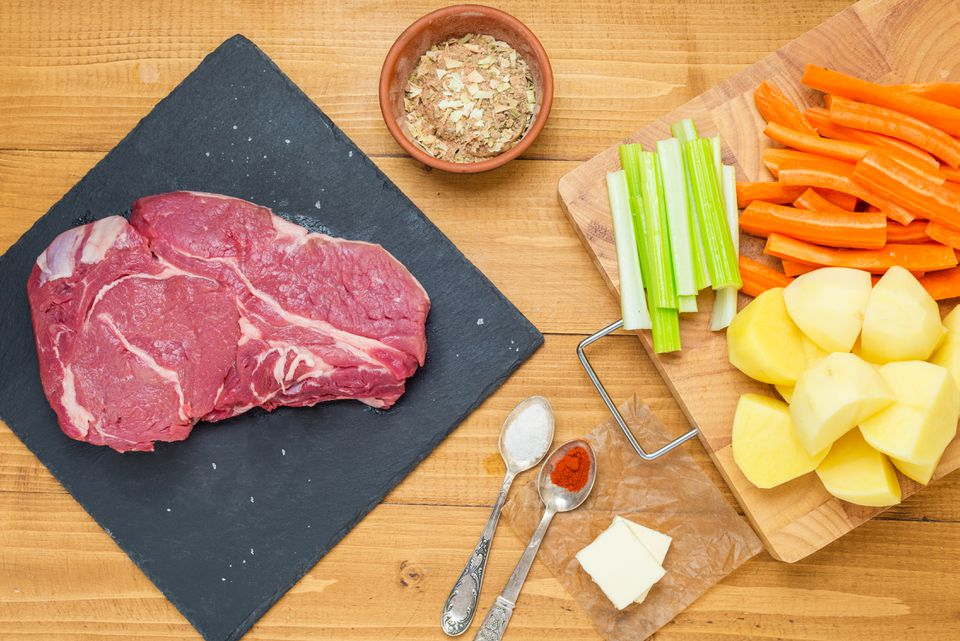ingredients for chuck steak