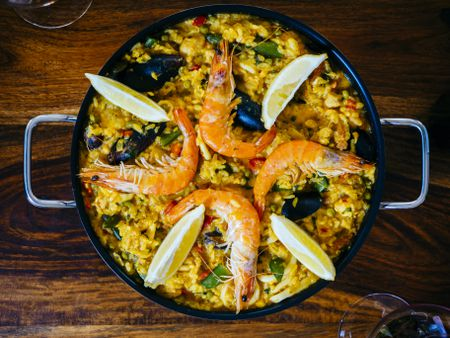Seafood Paella With Pork And Chicken Recipe