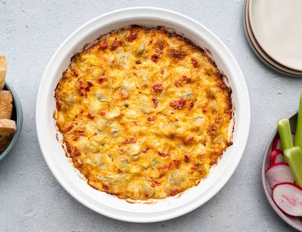 Artichoke Dip With Roasted Red Peppers