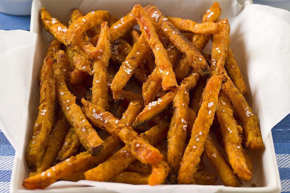 Sweet Frites with Garlic-Rosemary Aioli