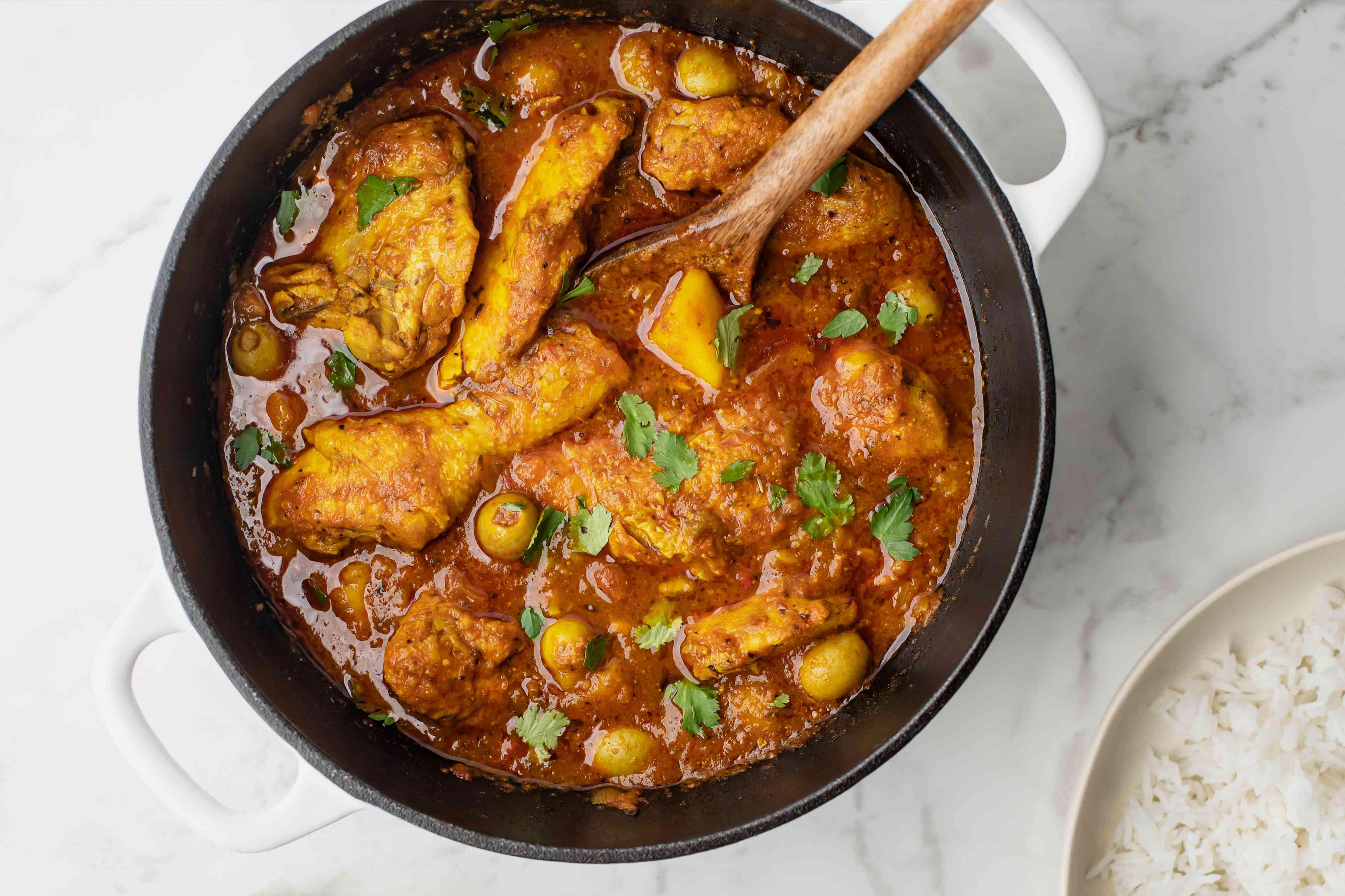 Garnish chicken