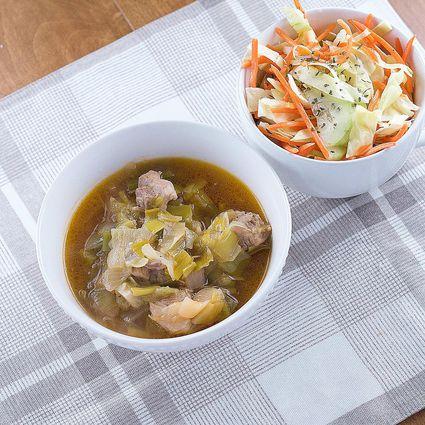 Leek and pork stew