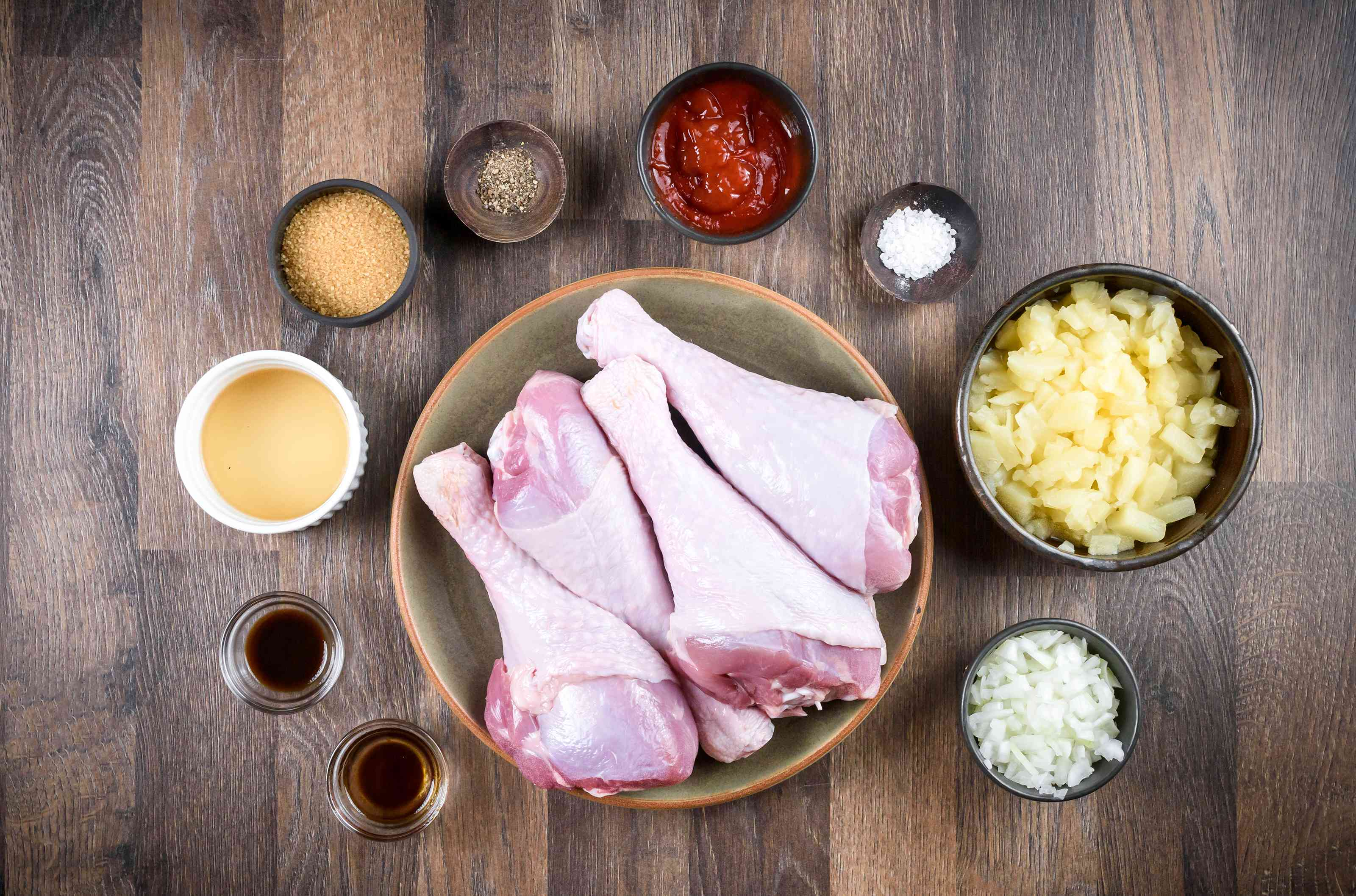 Ingredients for slow cooker island barbecued turkey legs