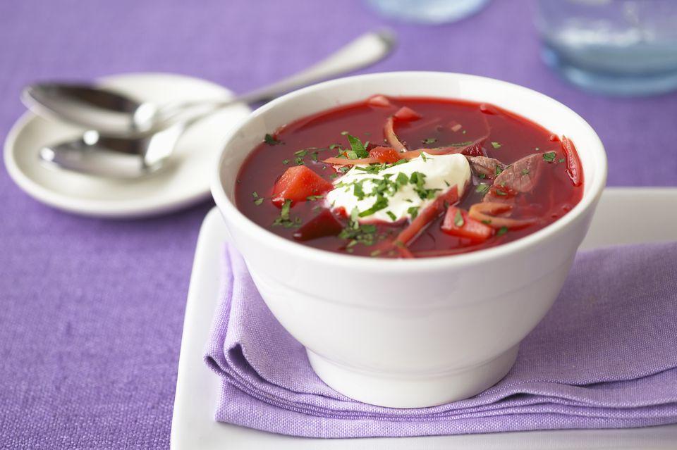 Beetroot soup (Borsch)