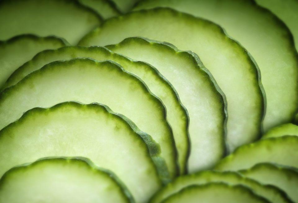 Close up of sliced fruit
