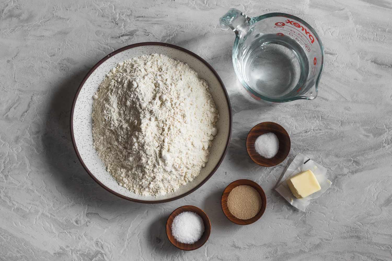 Homemade panini bread ingredients