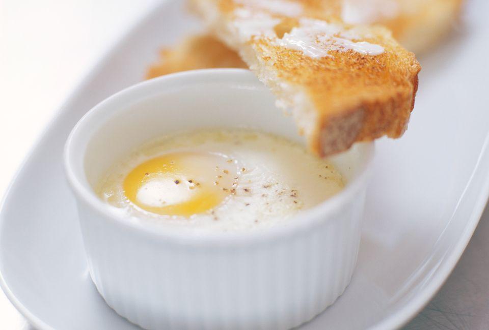 Coddled egg