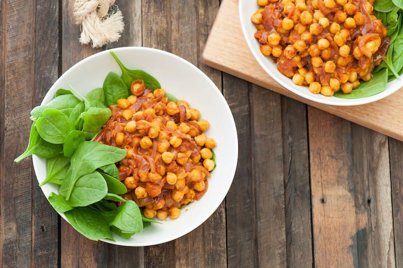 Simple Easy Chickpea and Coconut Curry