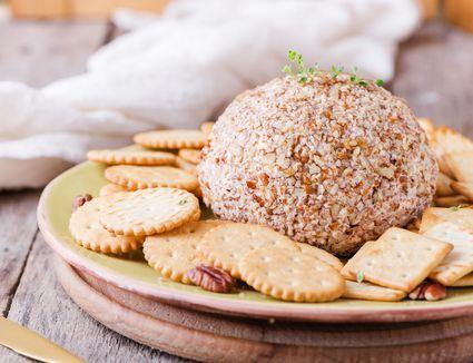 Celebration cheeseball with pecans