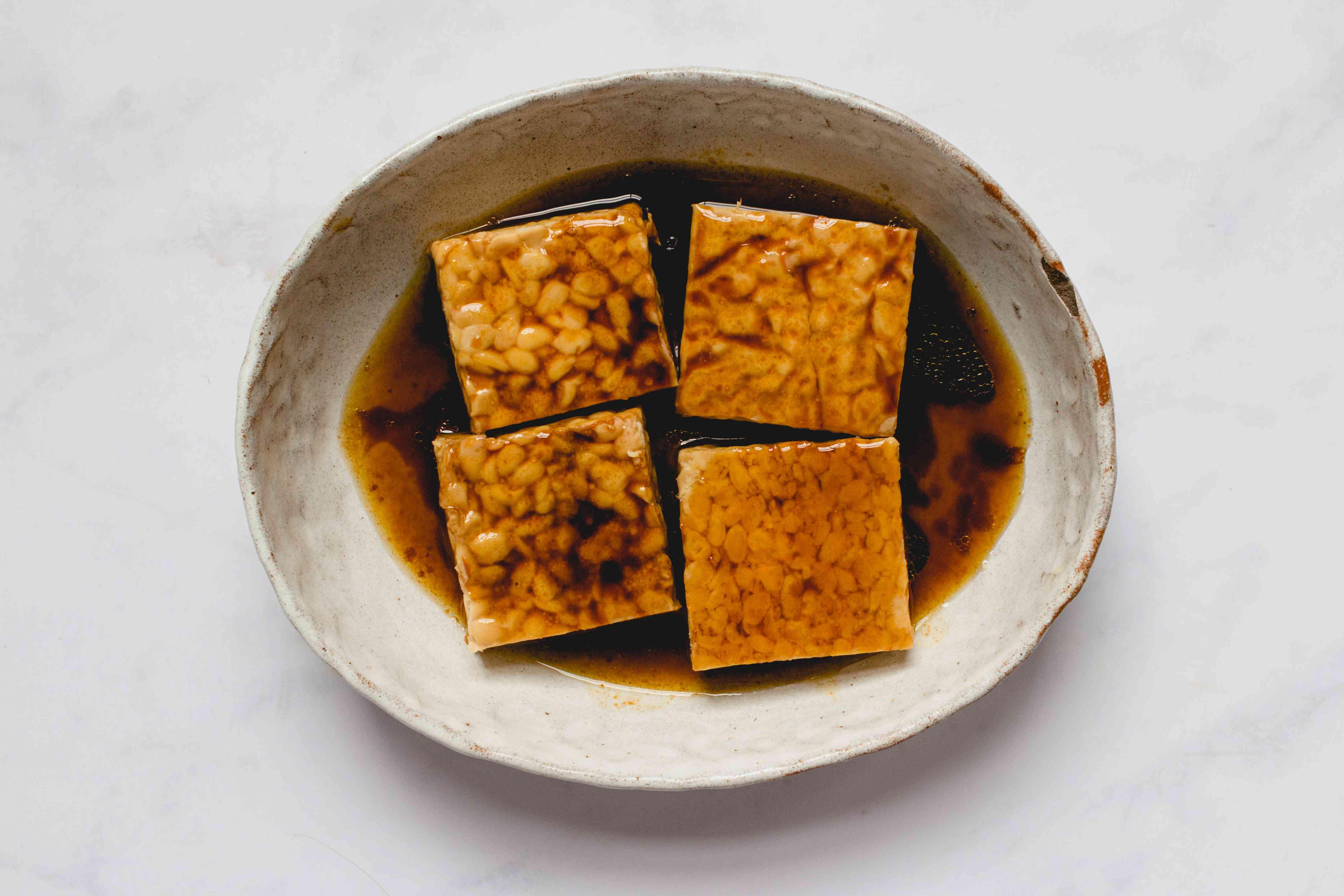 tempeh in a marinade