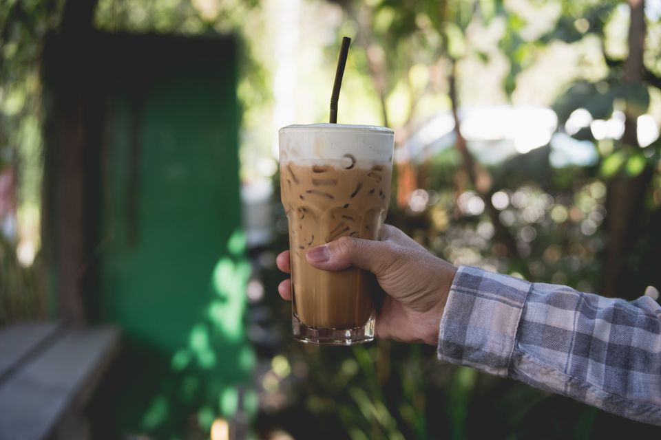 A cup of Thai iced coffee