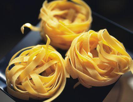 Dried fettuccine pasta