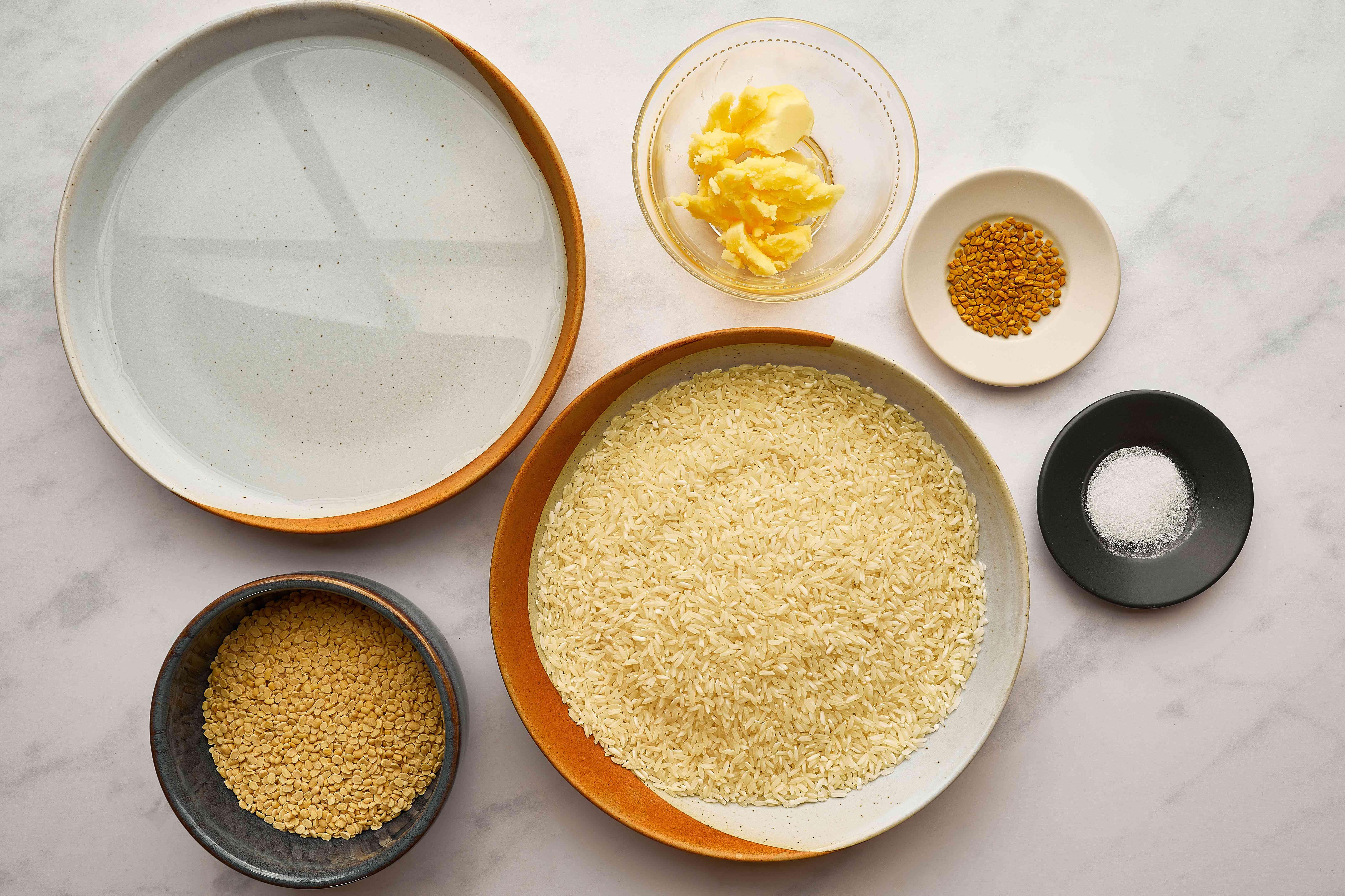 Savory Dosas Recipe (South Indian Pancakes) ingredients