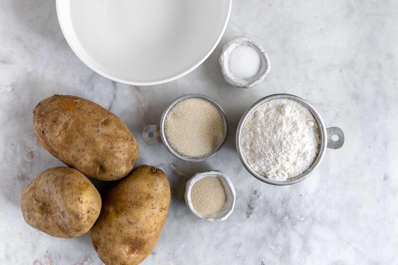 Potato Sourdough Starter ingredients