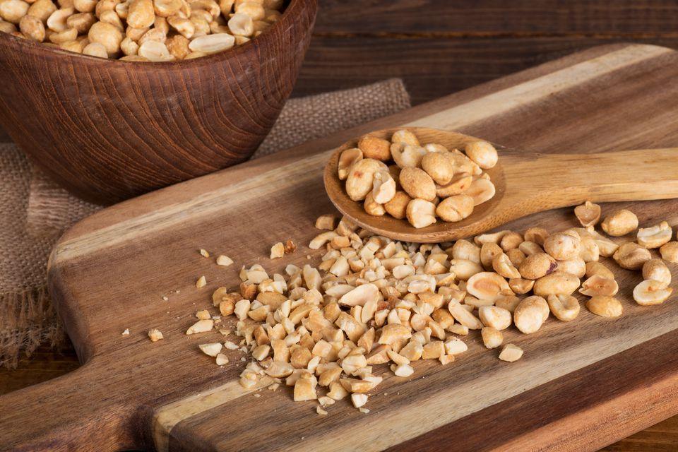 Chopped and whole peanuts