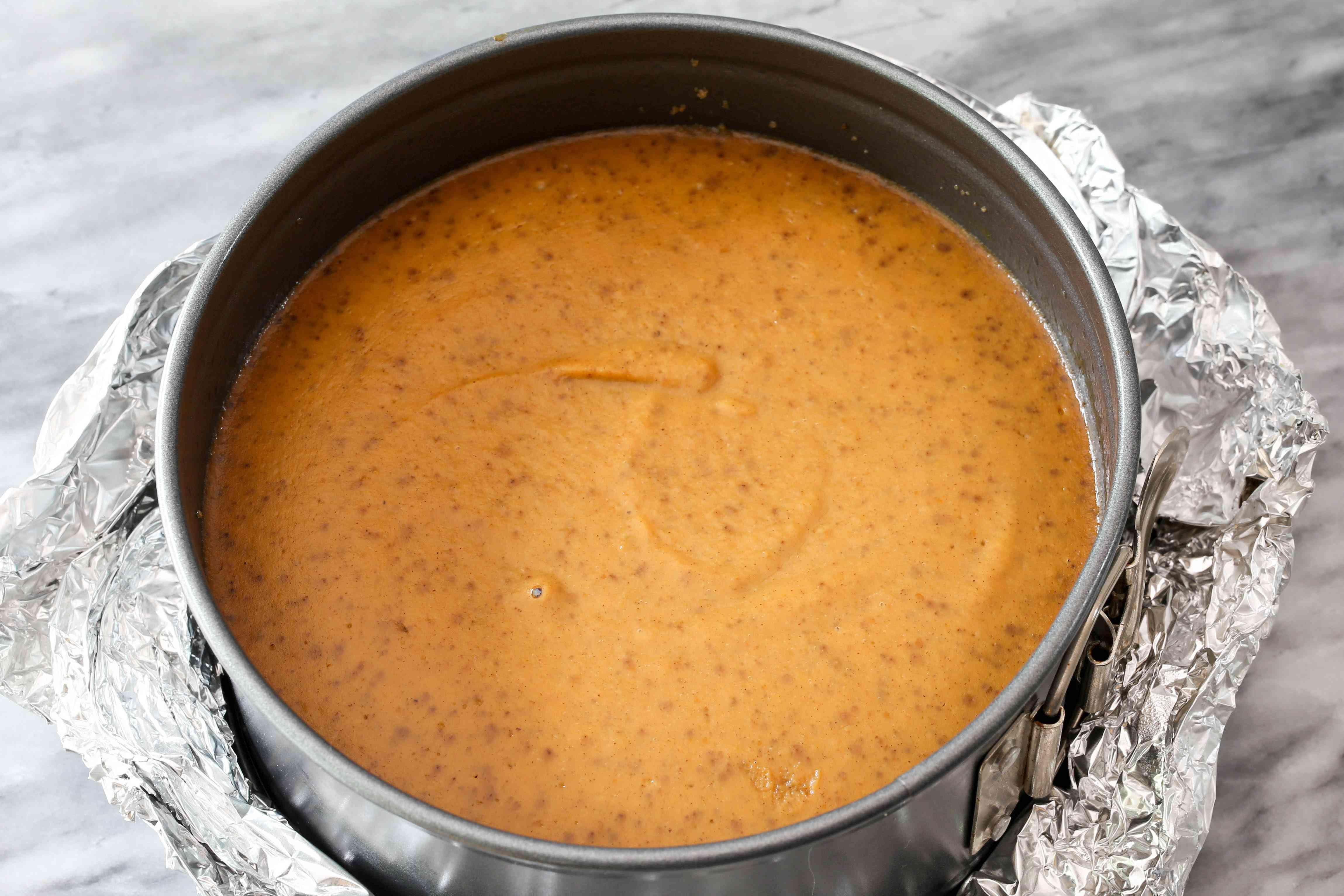 instant pot pumpkin pie in springform pan