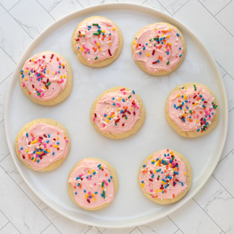 soft frosted lofthouse cookies with sprinkles