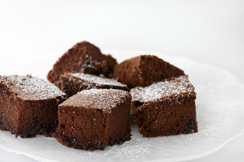 Fudgy Guiness Stout brownies