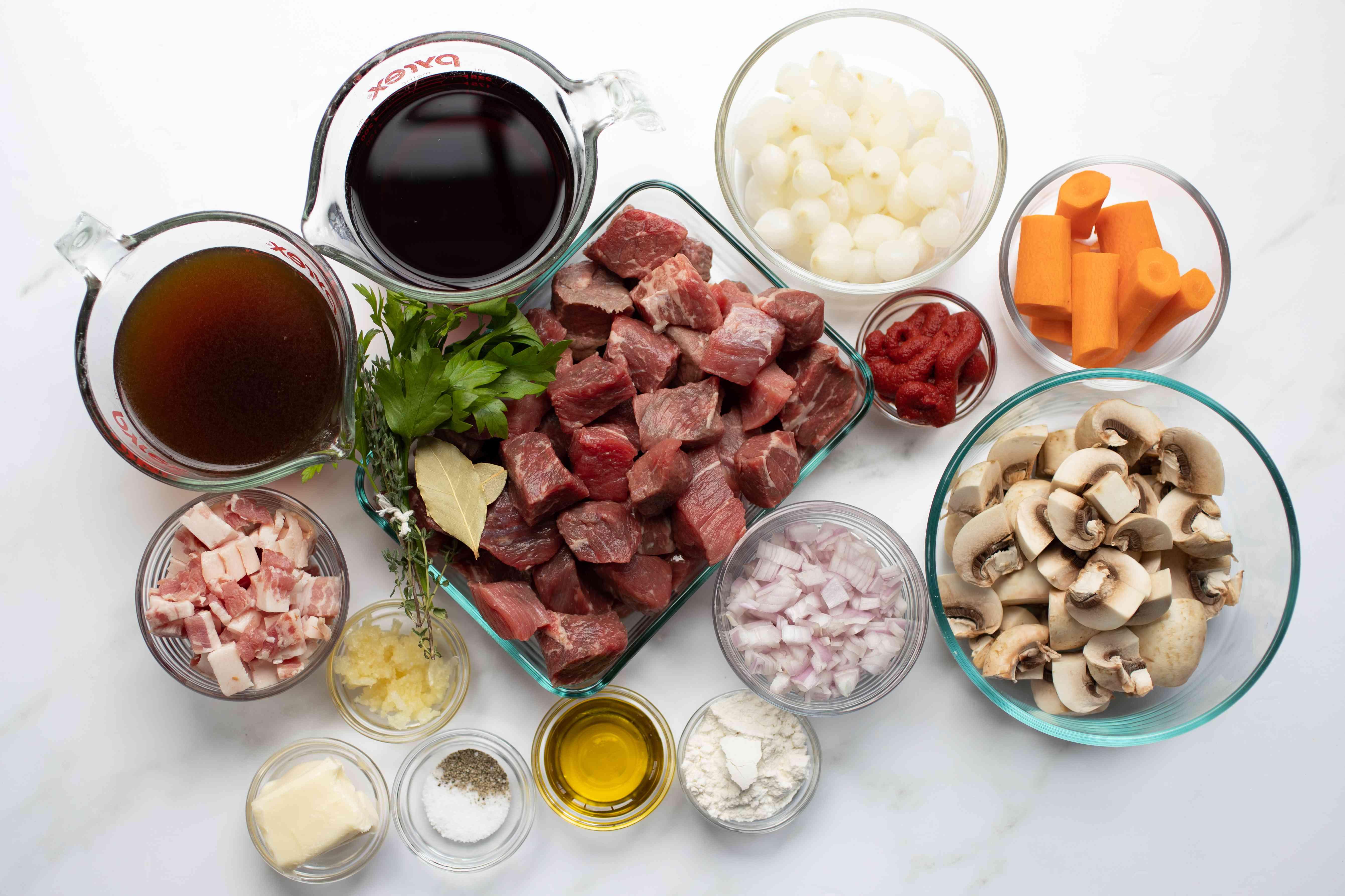 ingredients for instant pot beef bourguignon