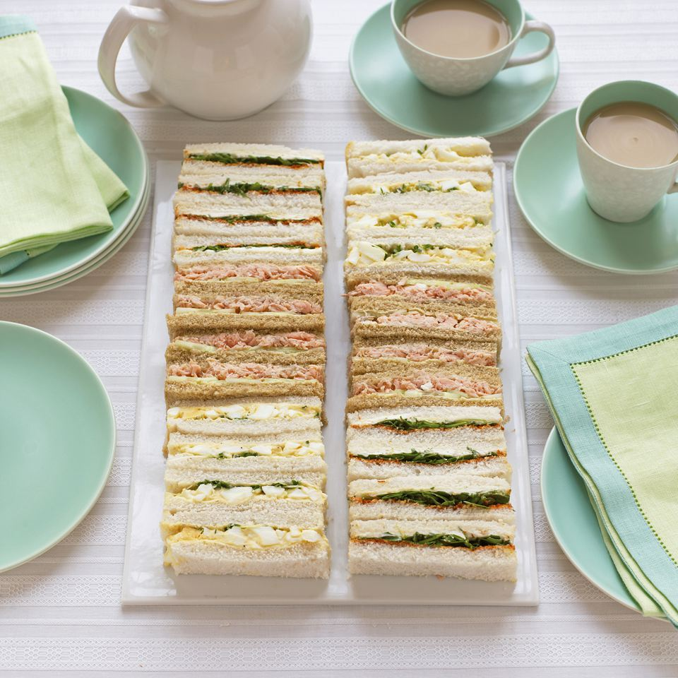 Finger sandwiches and tea